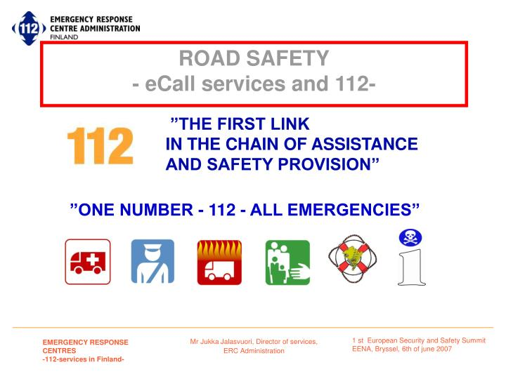 Road safety ecall services and 112