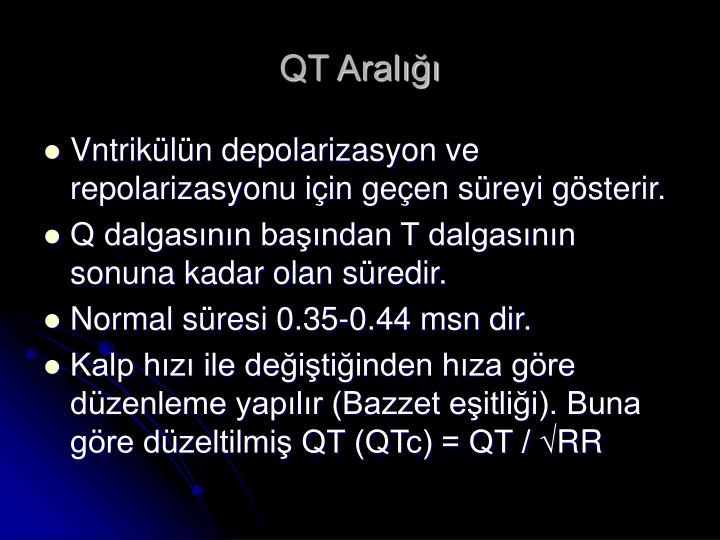 QT Aralığı