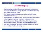 main findings 2