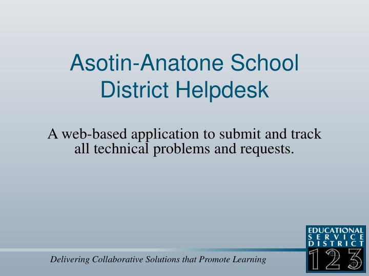 Asotin anatone school district helpdesk
