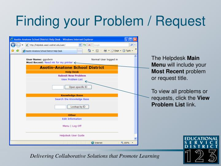 Finding your Problem / Request