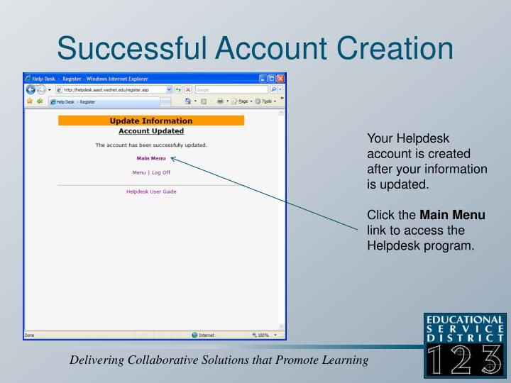 Successful Account Creation