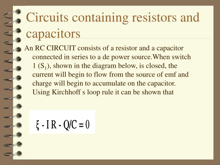Circuits containing resistors and capacitors