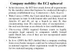 company mobility the ecj upheaval