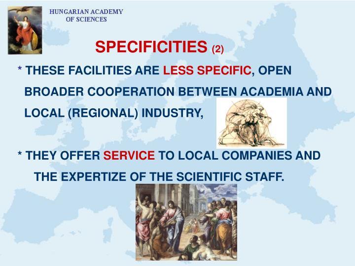 SPECIFICITIES