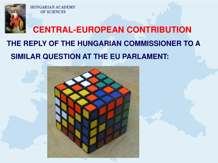 CENTRAL-EUROPEAN CONTRIBUTION