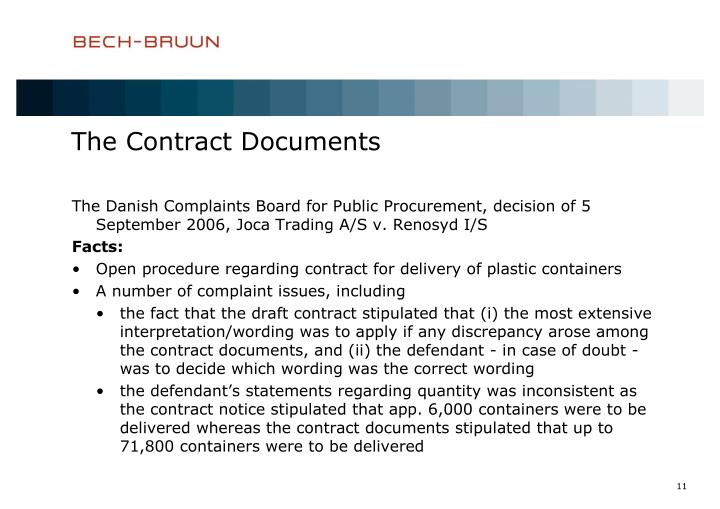 The Contract Documents