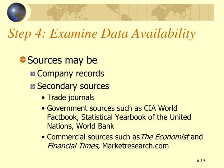 Step 4: Examine Data Availability