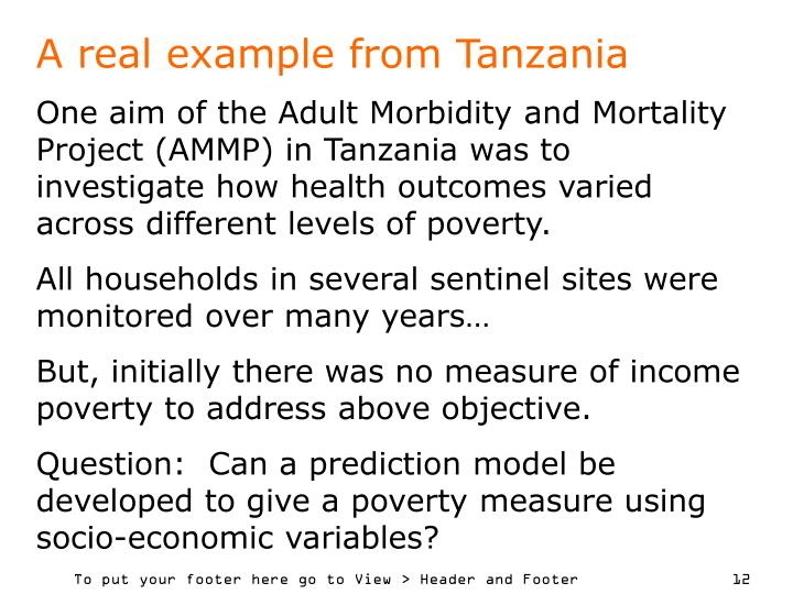 A real example from Tanzania