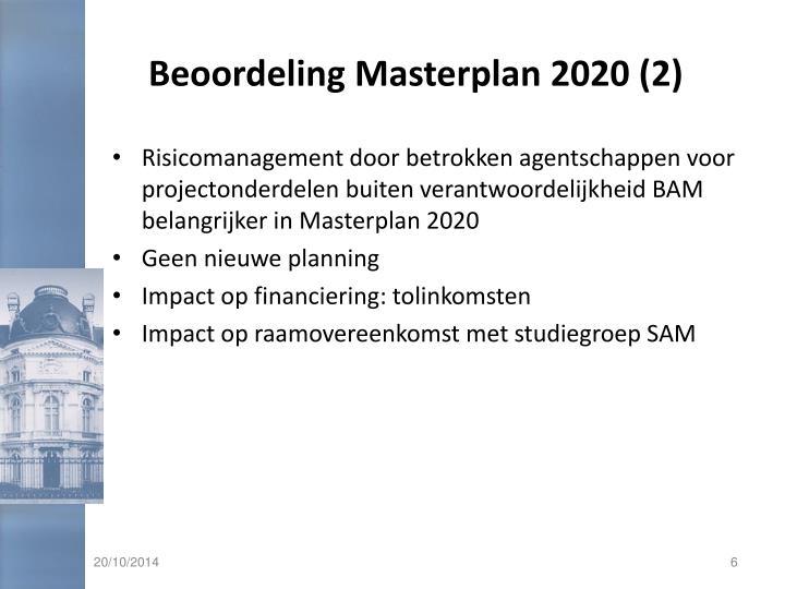 Beoordeling Masterplan 2020 (2)