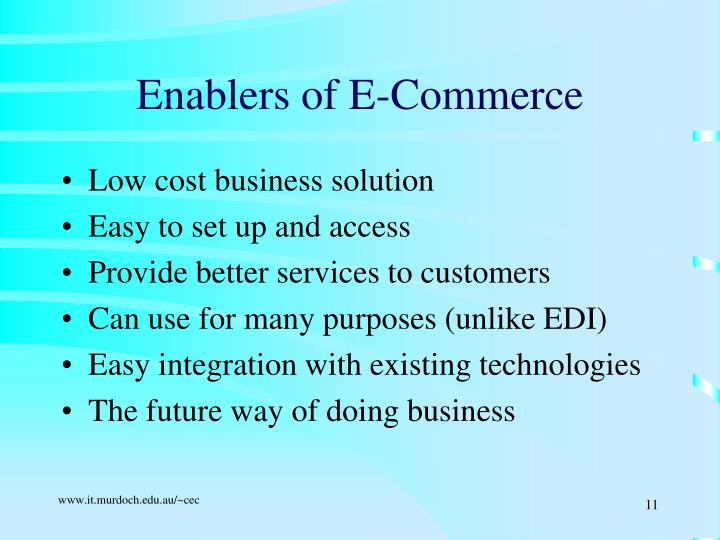 Enablers of E-Commerce