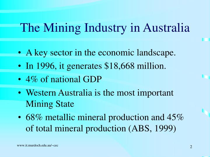 The mining industry in australia