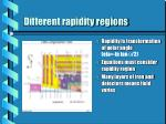 different rapidity regions