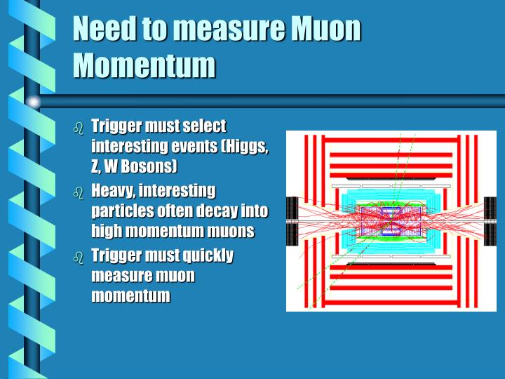 Need to measure Muon Momentum