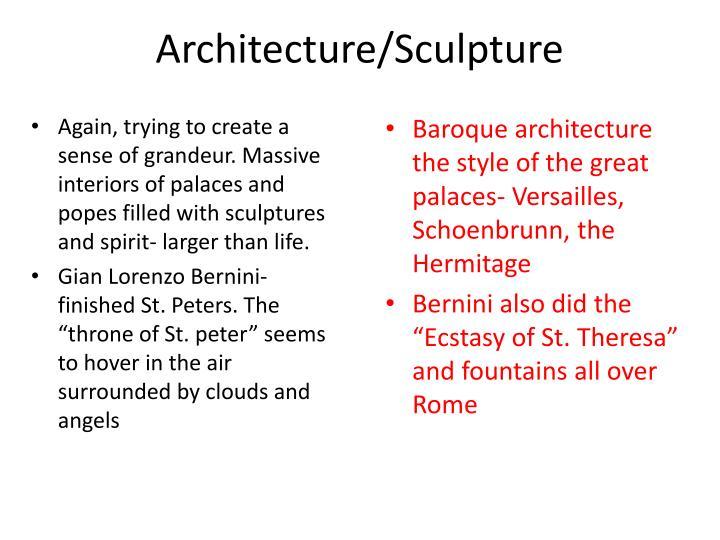 Architecture/Sculpture