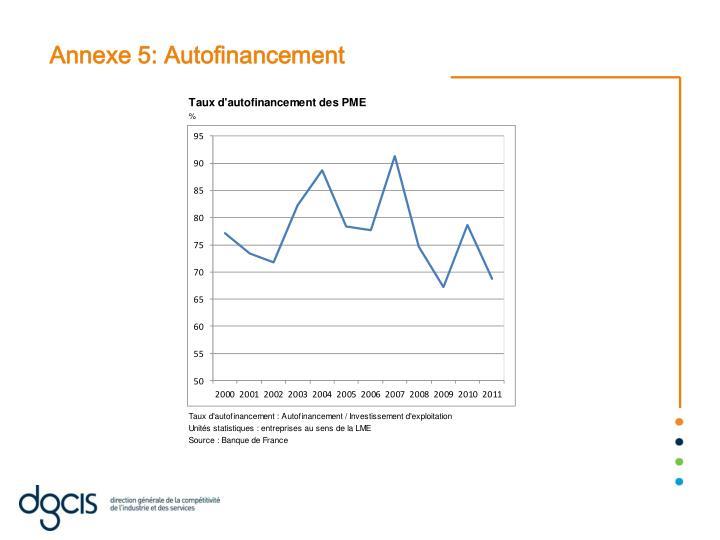 Annexe 5: Autofinancement
