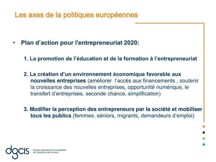 Les axes de la politiques européennes