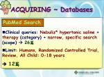 acquiring databases1