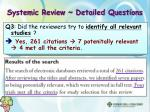 systemic review detailed questions