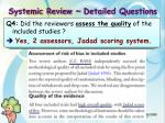 systemic review detailed questions1