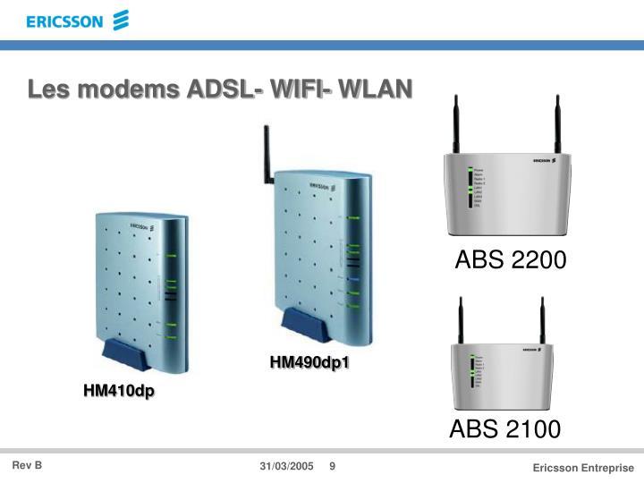 Les modems ADSL- WIFI- WLAN