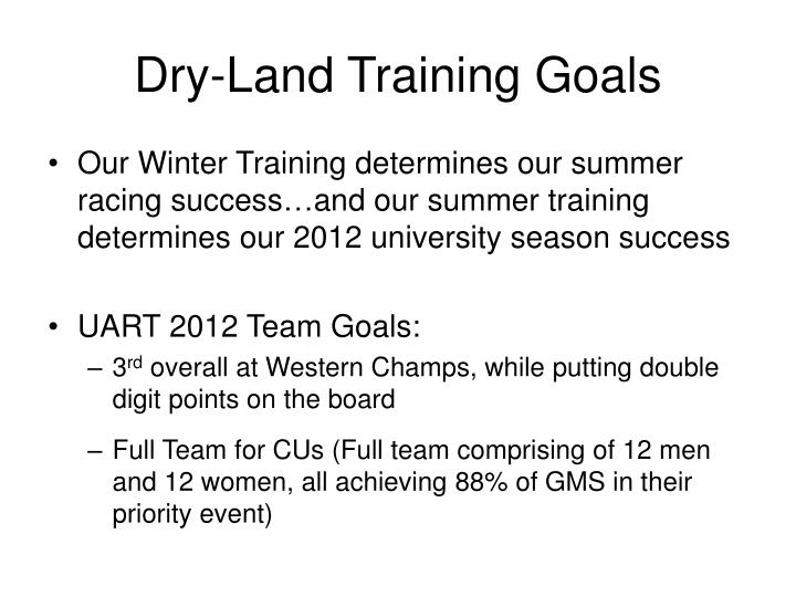 Dry land training goals