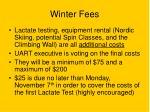 winter fees