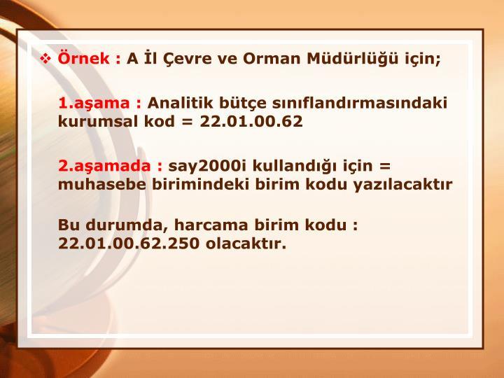 rnek :