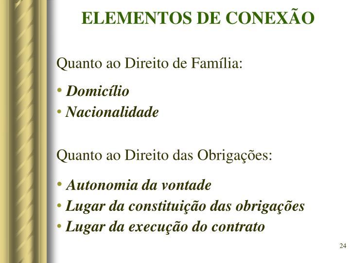 ELEMENTOS DE CONEXÃO