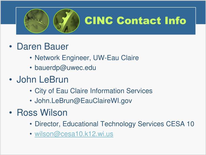 CINC Contact Info