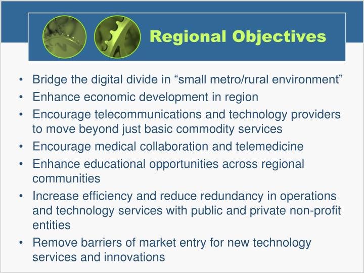 Regional Objectives