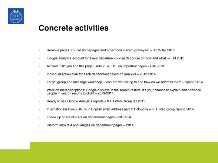 Concrete activities