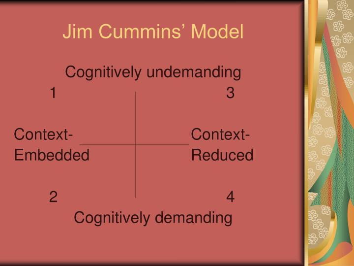 Jim Cummins' Model
