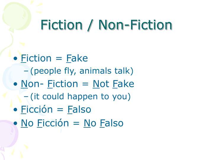 Fiction / Non-Fiction
