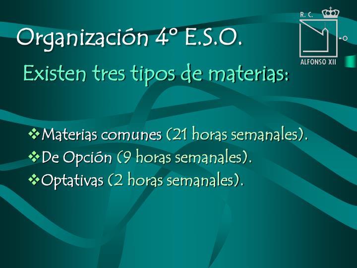Organización 4º E.S.O.