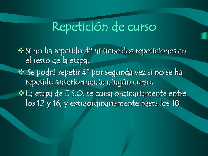 Repetición de curso