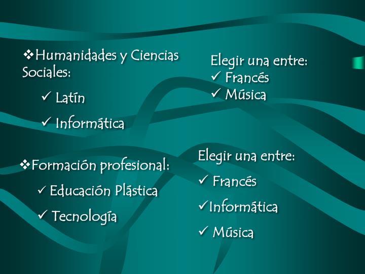 Humanidades y Ciencias Sociales: