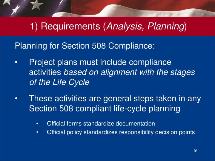 Planning for Section 508 Compliance: