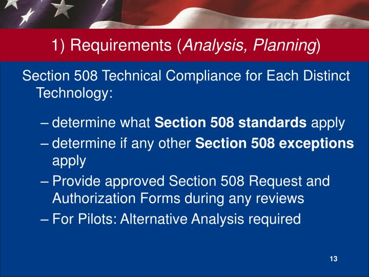 1) Requirements (