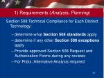 1 requirements analysis planning5