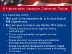 4 implementation integration deployment testing1