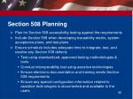 section 508 planning