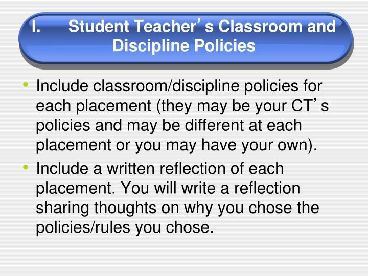 I.Student Teacher