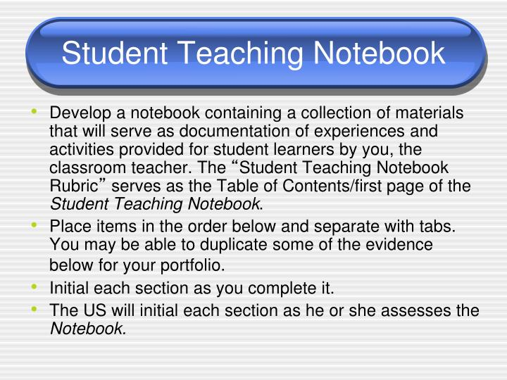 Student teaching notebook1
