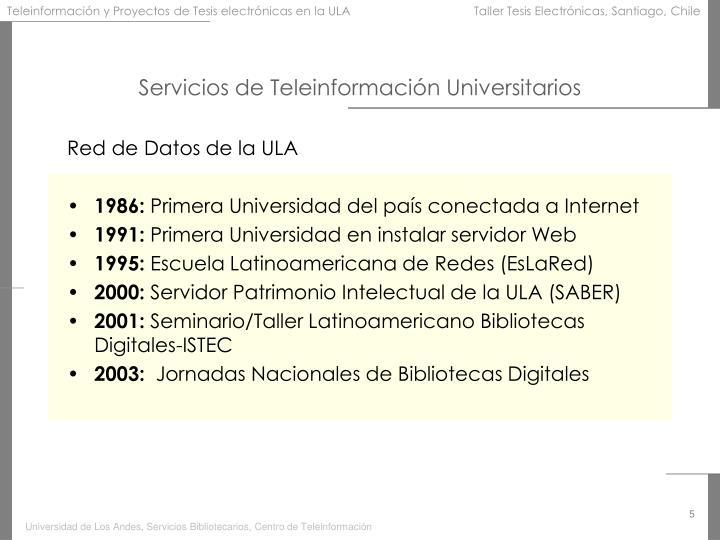 Servicios de Teleinformación Universitarios