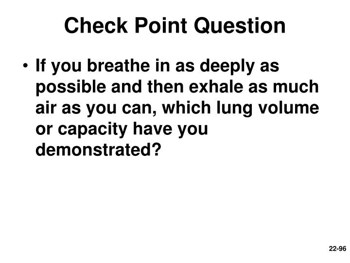 Check Point Question