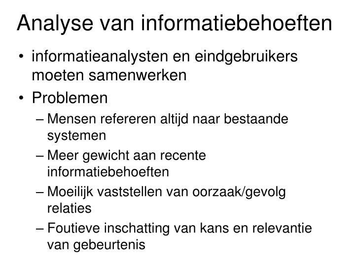 Analyse van informatiebehoeften