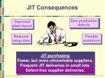 jit consequences
