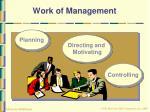 work of management