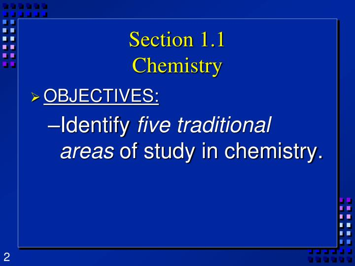Section 1 1 chemistry